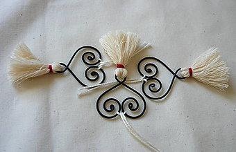 Dekorácie - drôtené srdce - 4683954_