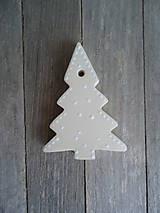 Dekorácie - Ozdoby vianočné biele - sada Keď biele, tak biele... - 4685294_