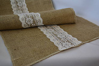 Úžitkový textil - vintage jutový obrus - 4686116_