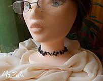Náhrdelníky - náhrdelník z čiernych perličiek - 4686885_