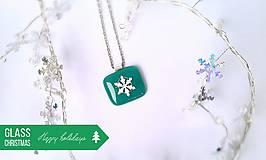 - *Sklenené Snehové vločky* - tyrkysové - 4687600_
