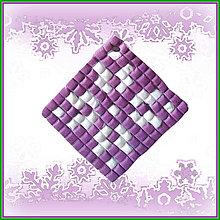 Dekorácie - Mozaiková vianočná ozdoba - 4688752_