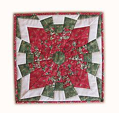 Úžitkový textil - Vianočný vankúš 2 - 4693379_