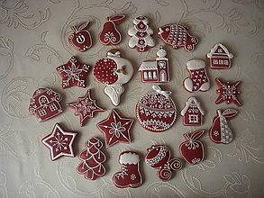 Dekorácie - vianočné medovníky-mix - 4692533_