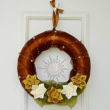 Dekorácie - Vianočný veniec na dvere - 4694877_