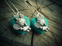 Náušnice - funny bunny... - 4689166_