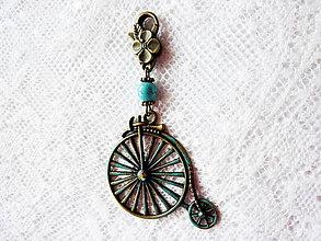 Kľúčenky - Velociped nielen na kabelku kľúče.... - 4690262_