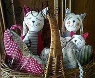 Dekorácie - Mačka Cica a Mica - 4692898_
