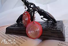 Náušnice - červené náušnice - 4691832_