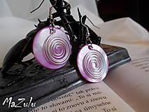 Náušnice - náušnice - levanduľovoružové perleťovky - 4692122_