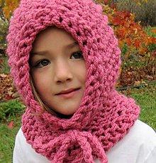 Detské čiapky - kapucka brmbolcová....ružová - 4693574_