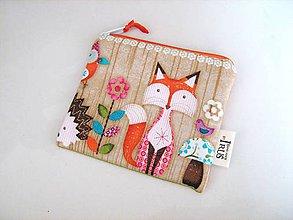 Taštičky - Zvířátka v lese - klíčenka, kapsička, peněženčička - 4694355_