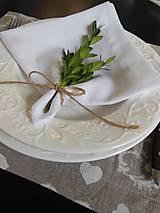 Úžitkový textil - Sviatočný obrúsok  biely - 4691237_