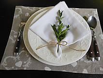 Úžitkový textil - Sviatočný obrúsok  biely - 4691239_