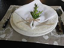 Úžitkový textil - Sviatočný obrúsok  biely - 4691240_