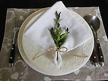 Úžitkový textil - Sviatočný obrúsok  biely - 4691241_