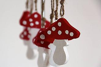 Dekorácie - Malá muchotrávka (Červená) - 4698035_