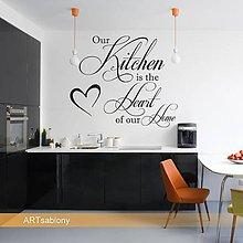 Dekorácie - (3587n) Nálepka na stenu - Kitchen is... - 4697940_