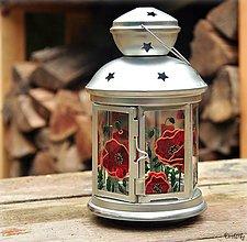 Svietidlá a sviečky - Maľovaný lampáš - Maky - 4697152_