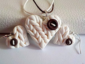 Sady šperkov - slahacka s kuskom cokolady-sada PRE TEBA.. - 4700257_