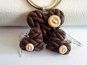 Sady šperkov - cokoladove macchiato-sada PRE TEBA.. - 4700352_
