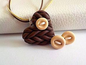 Sady šperkov - cokoladove macchiato-sada PRE TEBA.. - 4700372_
