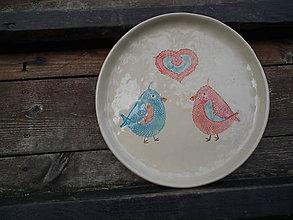 Nádoby - Tanier vtáčiky 26cm - 4704668_