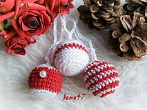 Dekorácie - Vianočné gule - trio - 4701169_
