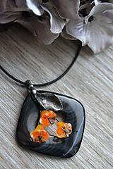 Náhrdelníky - Oranžové kvietky - 4702946  b8d721df831