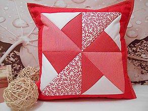 Úžitkový textil - patchwork obliečka 40x40 cm - 4706324_