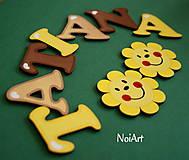 Tabuľky - Drevené písmenká TATIANA - 4704618_