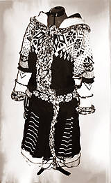 Ambra-čierno biela -kabát, sukňa