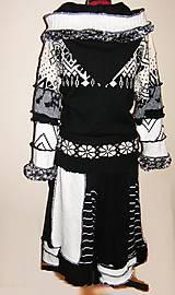 Kabáty - Ambra-čierno biela -kabát, sukňa - 4705893_