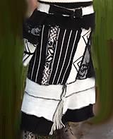 Kabáty - Ambra-čierno biela -kabát, sukňa - 4705922_