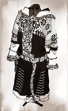 Kabáty - Ambra-čierno biela -kabát, sukňa - 4705891_
