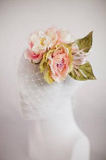 Ozdoby do vlasov - Kvetinový fascinátor - 4704626_
