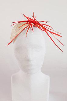 Ozdoby do vlasov - Červená extravagancia - 4704752_