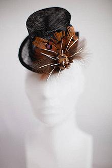 Ozdoby do vlasov - Čierny klobúčik I. - 4705041_