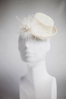 Ozdoby do vlasov - Ivory klobúčik - 4705064_