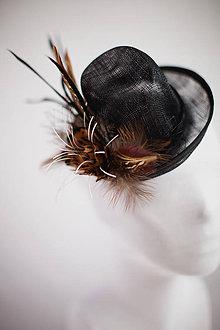 Ozdoby do vlasov - Čierny klobúčik II. - 4705113_