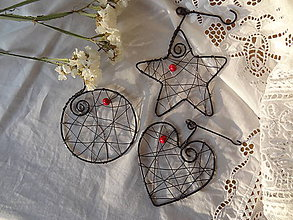Dekorácie - vianoce z drôtu - 4705555_