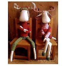 Dekorácie - Vianočná dekorácia - sobík Rudof a Matilda - 4703980_