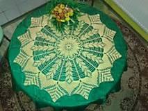 Úžitkový textil - Ručne háčkovaný obrus č.1 - 4704665_
