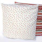 Úžitkový textil - Vianočná obliečka svetlá - 4705919_