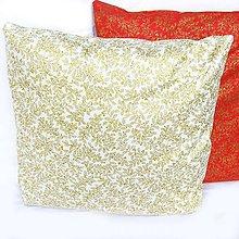 Úžitkový textil - Vianočná Obliečka Zlatá - 4705881_