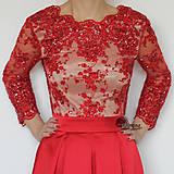 Šaty - Spoločenské šaty z korálkovej krajky rôzne farby - 4705235_