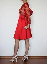 Šaty - Spoločenské šaty z korálkovej krajky rôzne farby - 4705237_