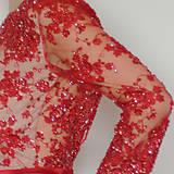 Šaty - Spoločenské šaty z korálkovej krajky rôzne farby - 4705238_