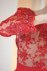 Šaty - Spoločenské šaty z korálkovej krajky rôzne farby - 4705243_