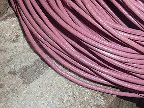 Galantéria - Koža ružová 2mm okrúhla - 4705677_